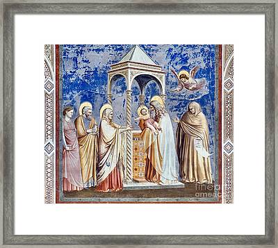 Christ At The Temple Framed Print