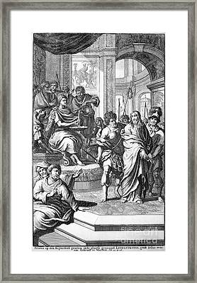 Christ Before Pilate Framed Print by Granger