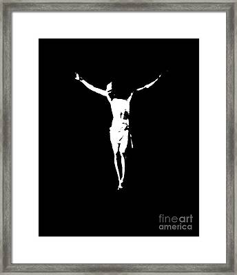 Christ In Black And White  Framed Print