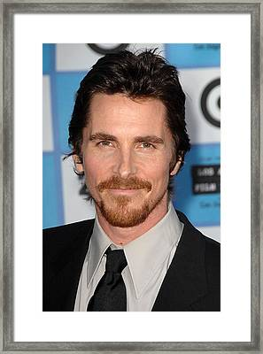 Christian Bale At Arrivals For 2009 Los Framed Print by Everett