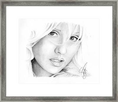 Christina Aguilera Framed Print by Rosalinda Markle