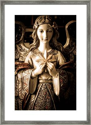 Christmas Angel Framed Print by Julie Palencia