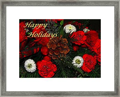Christmas Card Framed Print by Sandy Keeton