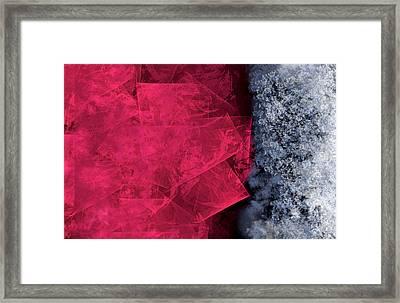 Christmas Frost Framed Print