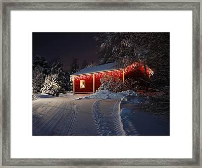 Christmas House  Framed Print by Roman Rodionov
