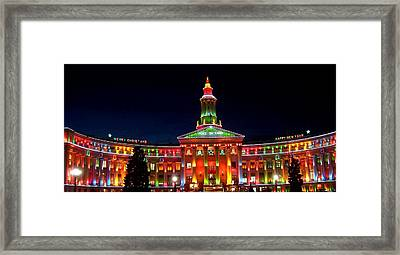 Christmas In Denver Framed Print by Phyllis Britton