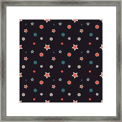 Christmas Stars Framed Print by Design Windmill