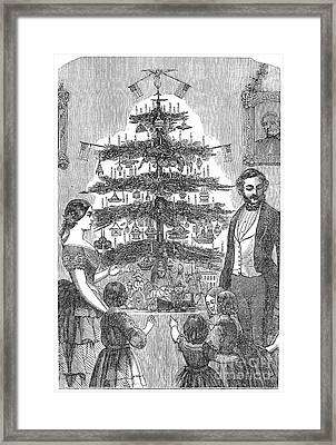 Christmas Tree, 1864 Framed Print by Granger