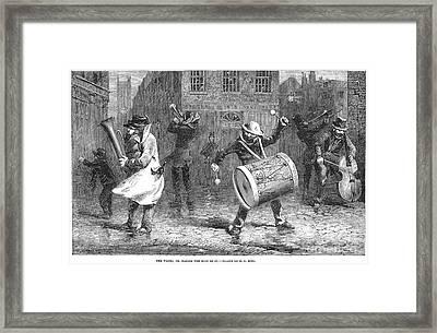 Christmas Waits, 1853 Framed Print by Granger