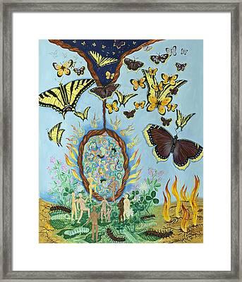 Chrysalis For Humanity Framed Print by Shoshanah Dubiner