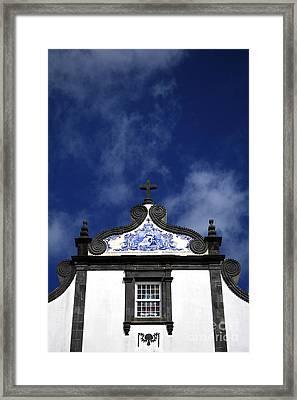 Church In Azores Islands Framed Print by Gaspar Avila