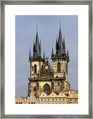 Church Of Our Lady Before Tyn - Prague Cz Framed Print