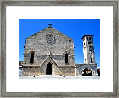 Church Of The Annunciation. Rhodes. Framed Print