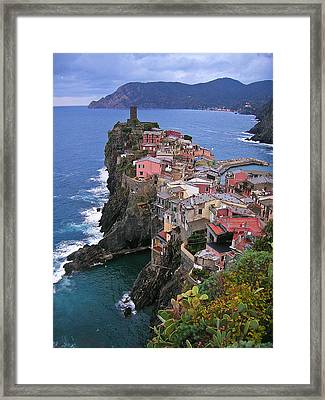 Cinque Terre Italy Fine Art Print Framed Print by Ian Stevenson