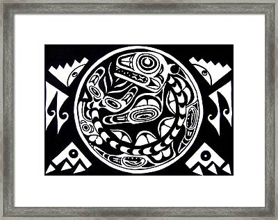 Circle Of Life Framed Print by Greg Becker