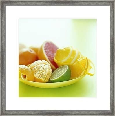 Citrus Fruits Framed Print by David Munns