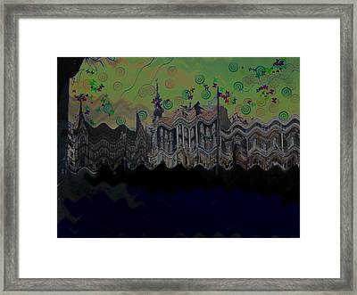 Framed Print featuring the digital art City by Bogdan Floridana Oana
