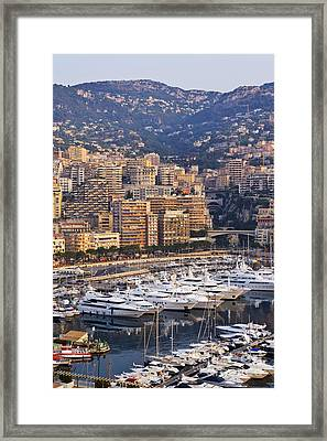 City Harbor At Dawn Framed Print by Jeremy Woodhouse