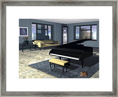 Framed Print featuring the digital art City Loft by John Pangia
