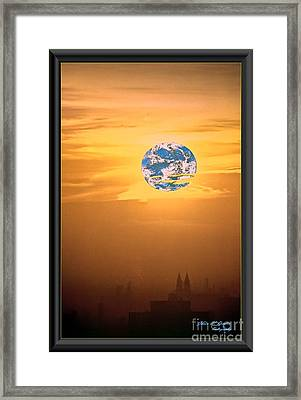 City Looking Back At Earth Framed Print by James  Dierker