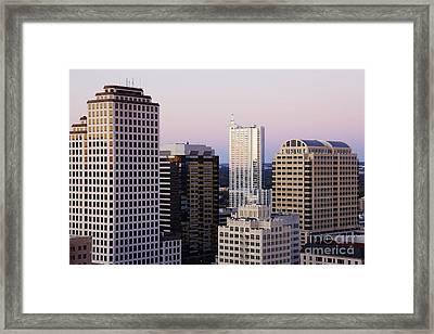 City Skyline Framed Print by Jeremy Woodhouse