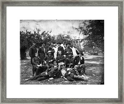 Civil War: Headquarters Framed Print by Granger