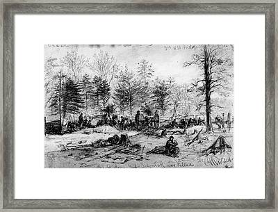 Civil War: Spotsylvania Framed Print by Granger
