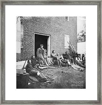 Civil War: Wounded, 1864 Framed Print by Granger