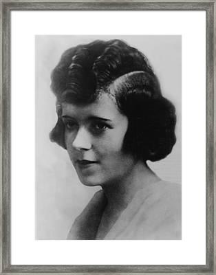 Clara Smith Hamon, Secretary And Lover Framed Print by Everett