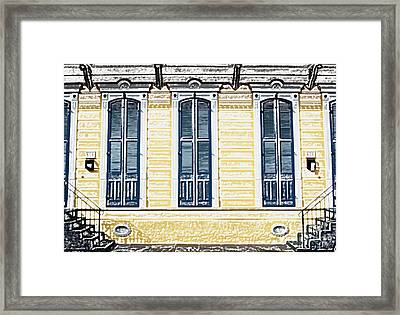 Classic French Quarter Residence New Orleans Colored Pencil Digital Art Framed Print