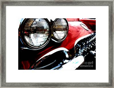 Framed Print featuring the digital art Classic Vette by Tony Cooper