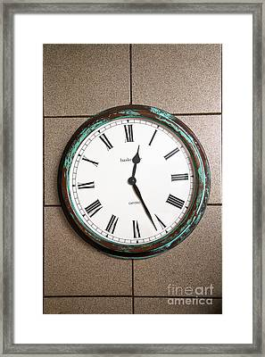 Clock With Roman Numerals Framed Print by Photo Researchers, Inc.