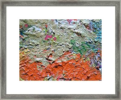 Close View Of One Of My Floral Paintings Framed Print by Anne-Elizabeth Whiteway