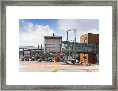 Closed Gate Bridge Framed Print