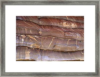 Closeup Of Sandstone Patterns, Petra, Jordan Framed Print by Fred Bruemmer