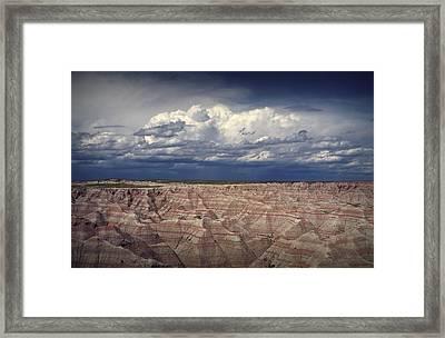 Cloud Formation In Badlands National Park Framed Print