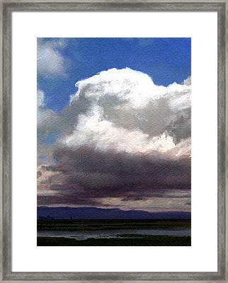 Cloud Towers Framed Print by Robert Duvall