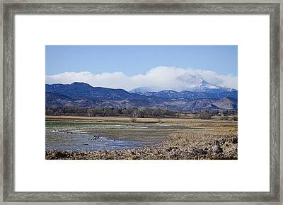 Clouds Hanging On The Continental Divide Colorado Rocky Mountain Framed Print by James BO  Insogna