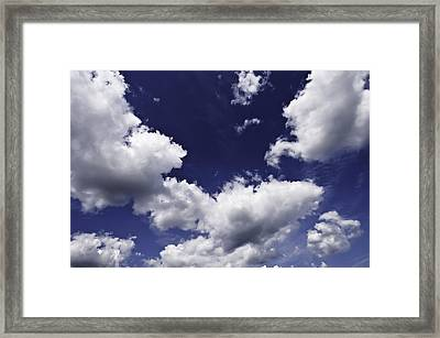 Clouds  Framed Print by Paul Plaine
