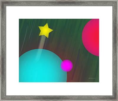 Cmyk Spheres Framed Print by Xueling Zou