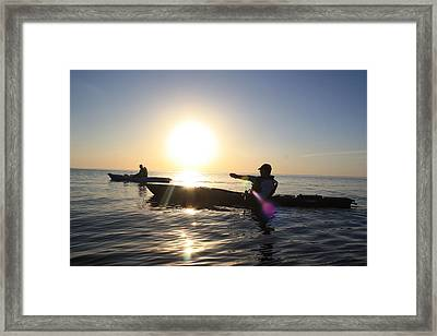 Coasting On Waters Light Framed Print