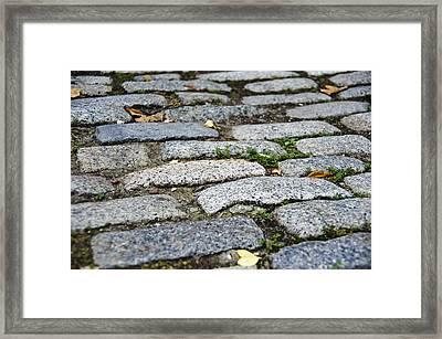 Cobblestone Framed Print by Jen Morrison
