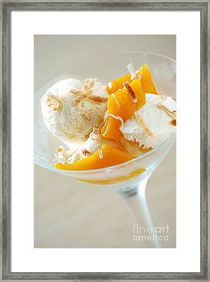 Coconut Gelato Framed Print by HD Connelly
