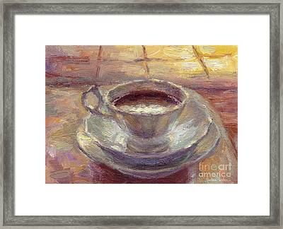 Coffee Cup Still Life Painting Framed Print