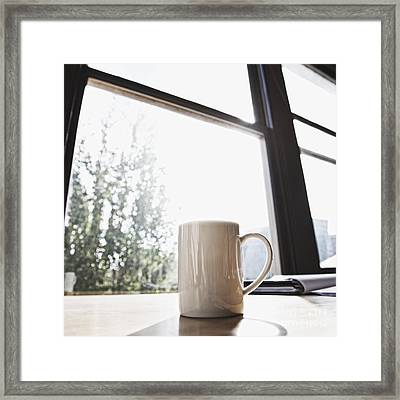 Coffee In A Cup Casting A Shadow Framed Print by Jetta Productions, Inc