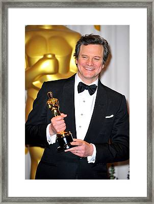Colin Firth, Best Performance By An Framed Print by Everett