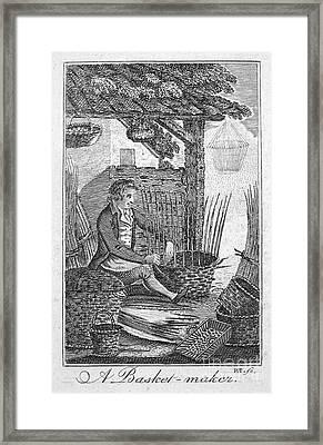 Colonial Basketmaker Framed Print by Granger