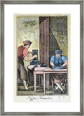 Colonial Typefounder Framed Print by Granger