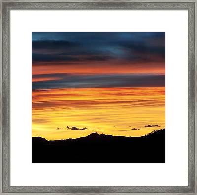 Colorado Sunrise Framed Print by Beth Riser