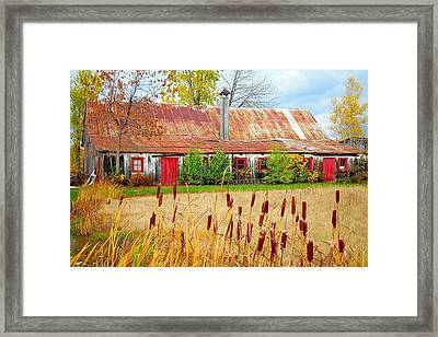Colorful Barn ... Framed Print by Juergen Weiss